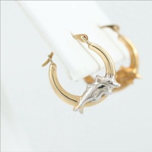 Jewelry - Vintage 10k gold hoop earrings.